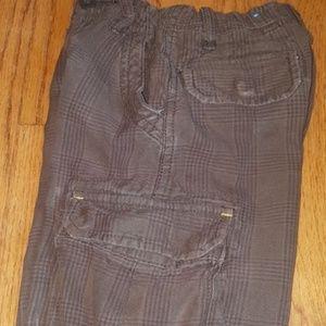 Children's Place Boy's 4T Brown Plaid Cargo Pants